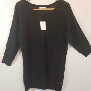 Calvin Klein Black Lightweight Sweater Large NWT